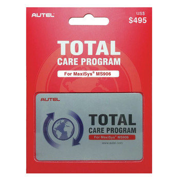 Autel MS906-1YRUPDATE MaxiSYS MS906 1 Year Total Care Program Card