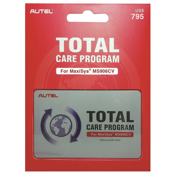Autel MS906CV1YRUPDATE MaxiSYS MS906CV 1 Year Total Care Program Card
