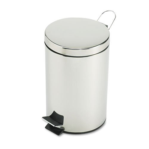 Rubbermaid MST35SSPL 3.5-Gallon Round Steel Medi-Can (Stainless Steel)
