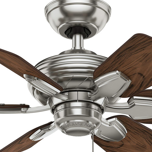 Casablanca 59524 31 in. Traditional Wailea Brushed Nickel Dark Walnut Outdoor Ceiling Fan image number 3
