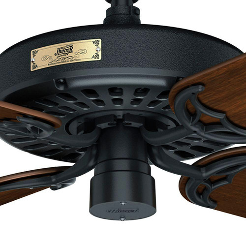 Hunter 23838 52 in. Outdoor Original Black Ceiling Fan image number 7