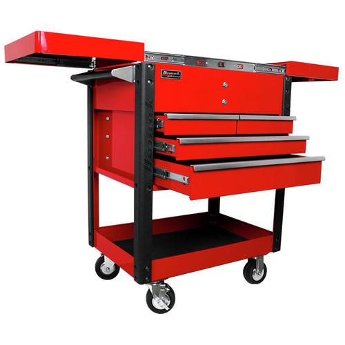 Homak RD06043500 35 in. 4-Drawer Slide Top Cart - Red image number 0