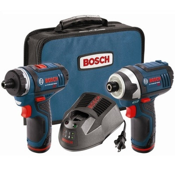 Bosch CLPK27-120 12V Max Compact Lithium-Ion Cordless 2-Speed Pocket Driver and Impact Driver 2-Tool Combo Kit (2 Ah)