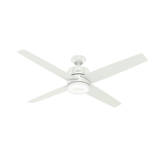 Hunter 59368 60 in. Advocate Wifi Ceiling Fan with Remote and LED Light Kit (Fresh White)