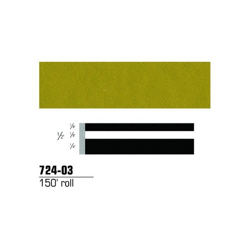 3M 72403 Scotchcal Striping Tape, Gold Metallic, 1/2 in. x 150 ft.