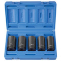 Grey Pneumatic 1705SN 5-Piece 1/2 in. Drive 6-Point Metric Deep Spindle Nut Impact Socket Set image number 1