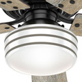Hunter 55080 52 in. Cedar Key OD LP Matte Black Ceiling Fan with Light and Integrated Control System-Handheld image number 8