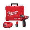Milwaukee 2453-22 M12 FUEL Cordless Lithium-Ion 1/4 in. Hex Impact Driver Kit image number 0