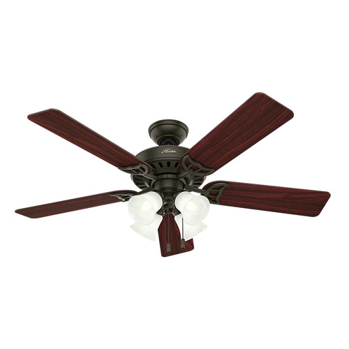 Hunter 53067 52 in. Studio Series New Bronze Ceiling Fan with Light