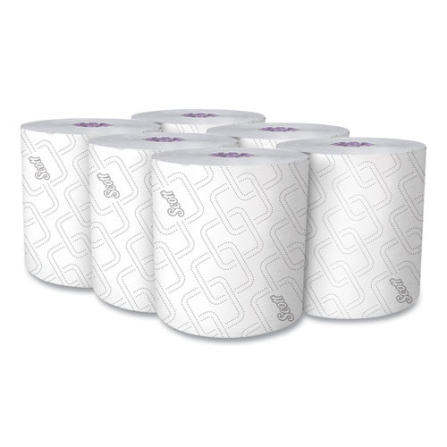 Scott 02001 6 Rolls/Carton Essential 8 in. x 950 ft. Proprietary System Hard Roll Paper  Towels - Purple/White image number 0