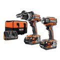 Factory Reconditioned Ridgid GEN5X 18V 4.0 Ah Lithium-Ion Brushless Hammer Drill and Impact Driver Combo Kit