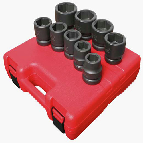 Sunex 5699 9-Piece 1 in. Drive SAE Impact Socket Set