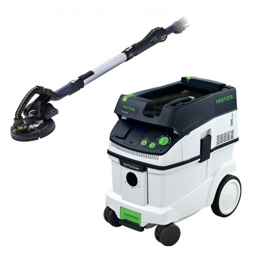 Festool LHS 225 Planex Drywall Sander with CT 36 AC AutoClean 9.5 Gallon Dust Extractor