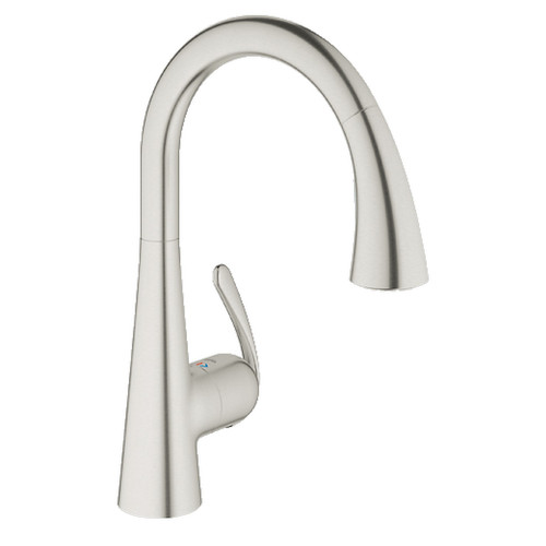 Grohe 32298SD1 Ladylux Single Hole Kitchen Faucet (Stainless Steel)