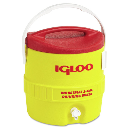 Igloo 431 3GAL RED/YELLOW COOLER PLASTIC IND