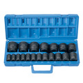 Grey Pneumatic 1319 19-Piece 1/2 in. Drive 6-Point SAE Master Standard Impact Socket Set image number 1