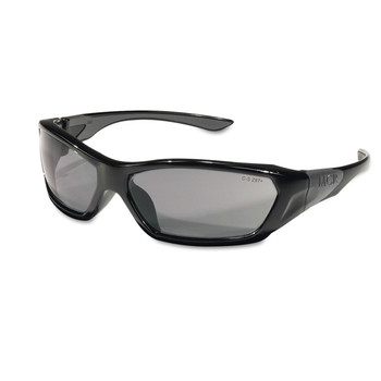 MCR Safety FF122 ForceFlex Black Frame Safety Glasses - Gray Lens