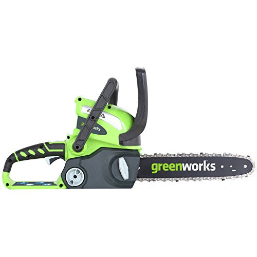 Greenworks 2000219 2000219 40V/12 in. Cordless Chainsaw with 2 Ah Battery and Charger image number 0