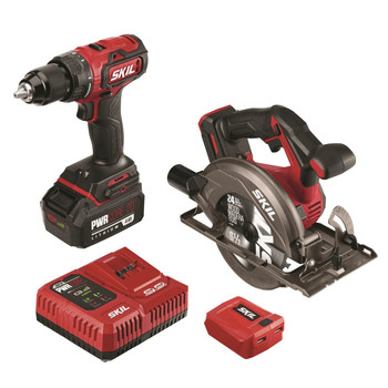 Skil CB7475-1A PWRCore 20 20V Brushless Lithium-Ion Cordless Drill Driver / Circular Saw Combo Kit (4 Ah)