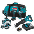 Makita XT505 18V LXT Lithium-Ion 5-Tool Cordless Combo Kit (3 Ah) image number 0