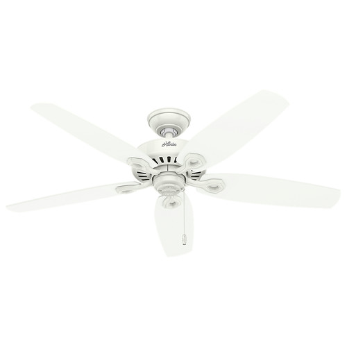 Hunter 53293 52 in. Builder Elite Damp Snow White Ceiling Fan
