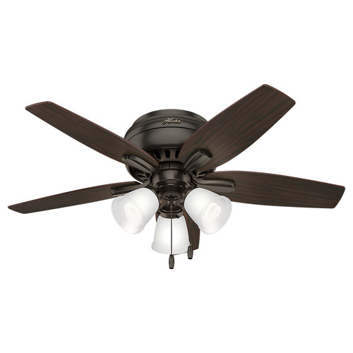 Hunter 51078 42 in. Newsome Premier Bronze Ceiling Fan with Light
