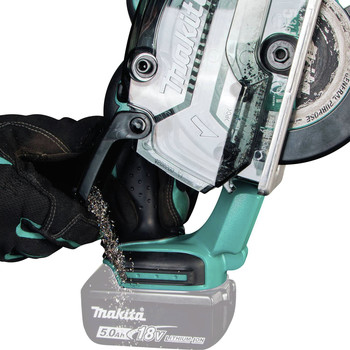 Makita XSC03Z 18V LXT Lithium-Ion Cordless 5-3/8 in. Metal Cutting Saw with Electric Brake and Chip Collector (Tool Only) image number 4