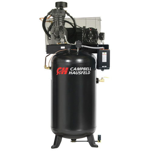 Campbell Hausfeld CE7051FP 5 HP Two-Stage 80 Gallon Oil-Lube 3 Phase Fully Packaged Stationary Vertical Air Compressor