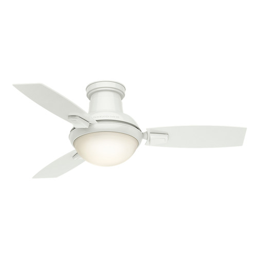 Casablanca 59153 44 in. Verse Fresh White Ceiling Fan with Light and Remote image number 2