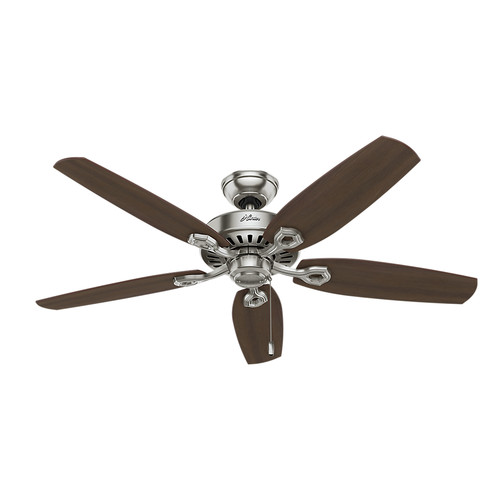Hunter 53241 52 in. Builder Elite ENERGY STAR Brushed Nickel Ceiling Fan image number 0