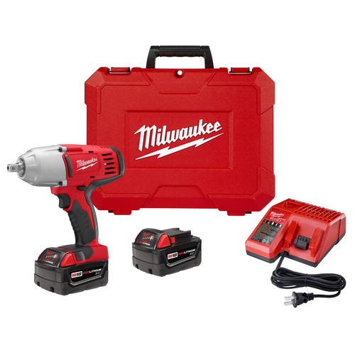 Milwaukee 2662-22 M18 18V Cordless 1/2 in. Lithium-Ion High Torque Impact Wrench Kit with 2 Batteries image number 0