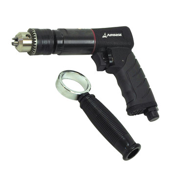 AirBase EATDR05S1P Industrial 1/2 in. 6 CFM Reversible Air Drill