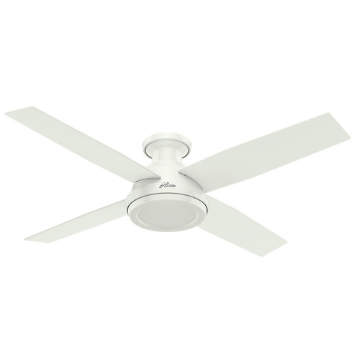 Hunter 59248 52 in. Dempsey Fresh White Ceiling Fan with Remote image number 0