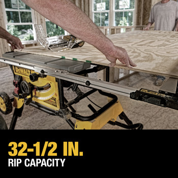 Dewalt DWE7491RS 10 in. 15 Amp  Site-Pro Compact Jobsite Table Saw with Rolling Stand image number 20