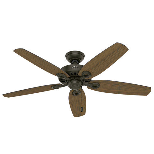 Hunter 53292 52 in. Builder Elite Damp New Bronze Ceiling Fan image number 0