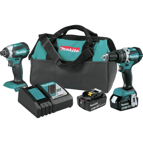 Makita XT269M 18V LXT BL Lithium-Ion Cordless 2-Piece Combo Kit (4.0 Ah) image number 0