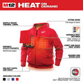 Milwaukee 302R-20M M12 12V Li-Ion Heated Hoodie (Jacket Only) - Medium image number 3