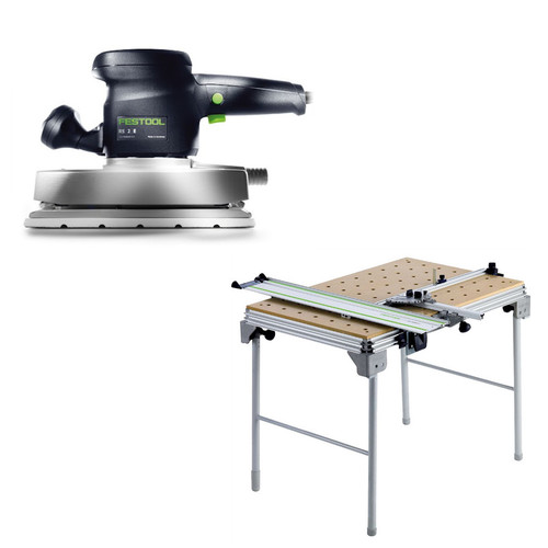 Festool RS 2 E Orbital Finish Sander plus Multi-Function Work Table