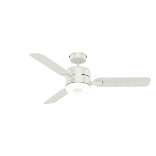 Casablanca 59427 54 in. Paume Ceiling Fan with Light and Integrated Wall Control (Fresh White)