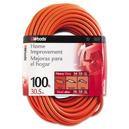 CCI 0627 100 ft. Outdoor Round Vinyl Extension Cord (Orange) image number 0