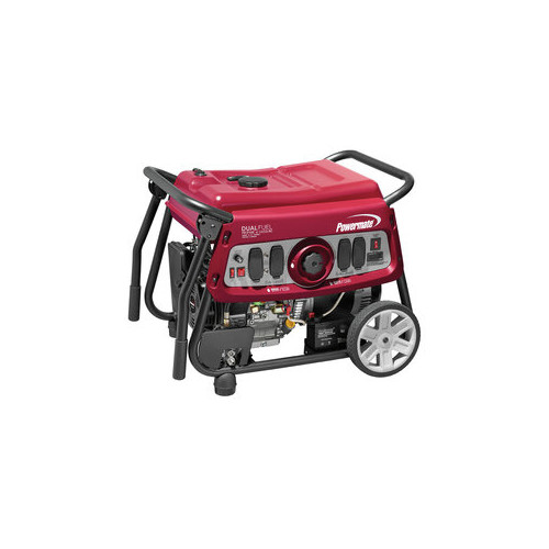 Powermate 6958 7500 Watt DUAL FUEL Portable Generator - Electric Start/CSA Compliant