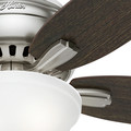 Hunter 53315 52 in. Newsome Brushed Nickel Ceiling Fan with Light image number 8