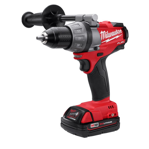 Factory Reconditioned Milwaukee 2603-82CT M18 FUEL 18V Cordless Lithium-Ion Drill Driver with CP Batteries