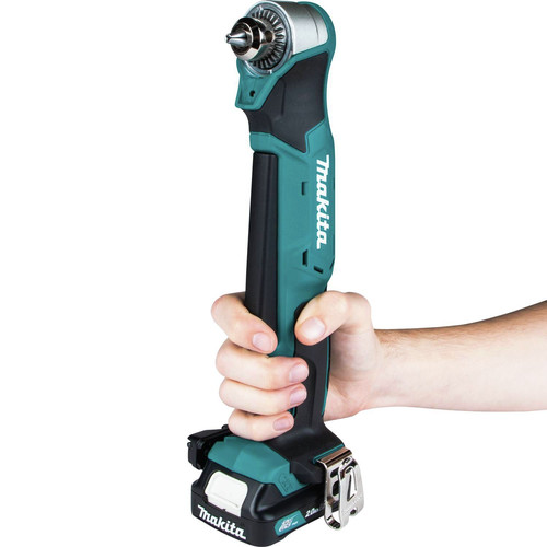 Makita AD03R1 12V max CXT Lithium-Ion 3/8 in. Cordless Right Angle Drill Kit (2 Ah) image number 6