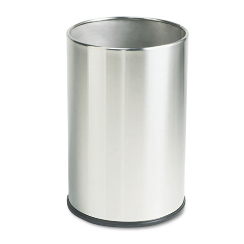 Rubbermaid UB1900SSS 5 Gal. European/Metallic Series Round Wastebasket (Satin Stainless)