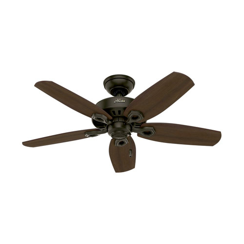 Hunter 52218 42 in. Builder Small Room New Bronze Ceiling Fan with Light image number 1