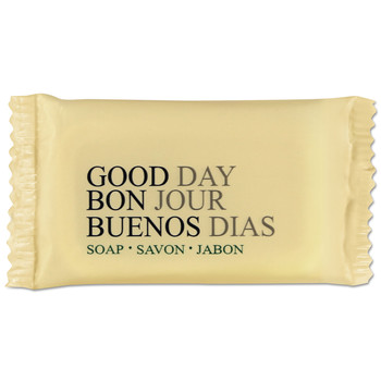 Good Day TP390050 Amenity Bar Soap, Pleasant Scent, 1/2 Oz, 1000/carton