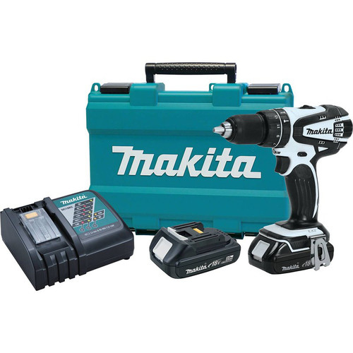 Factory Reconditioned Makita XPH01RW-R 18V LXT Lithium-Ion Variable 2-Speed 1/2 in. Cordless Hammer Drill Driver Kit (2 Ah) image number 0