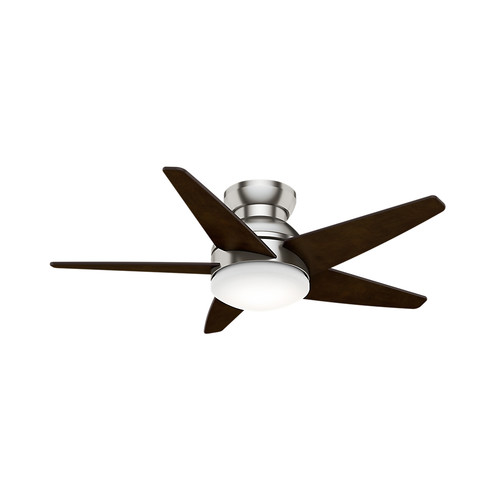 Casablanca 59351 44 in. Isotope Brushed Nickel Ceiling Fan with Light and Wall Control
