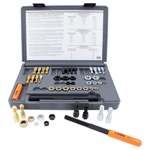Lang 971 48-Piece SAE and Metric Thread Restorer Kit image number 0